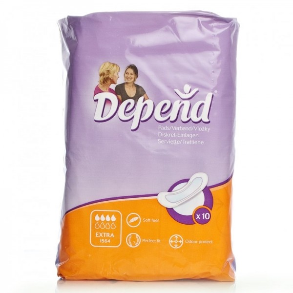Depend Extra Incontinence Pads