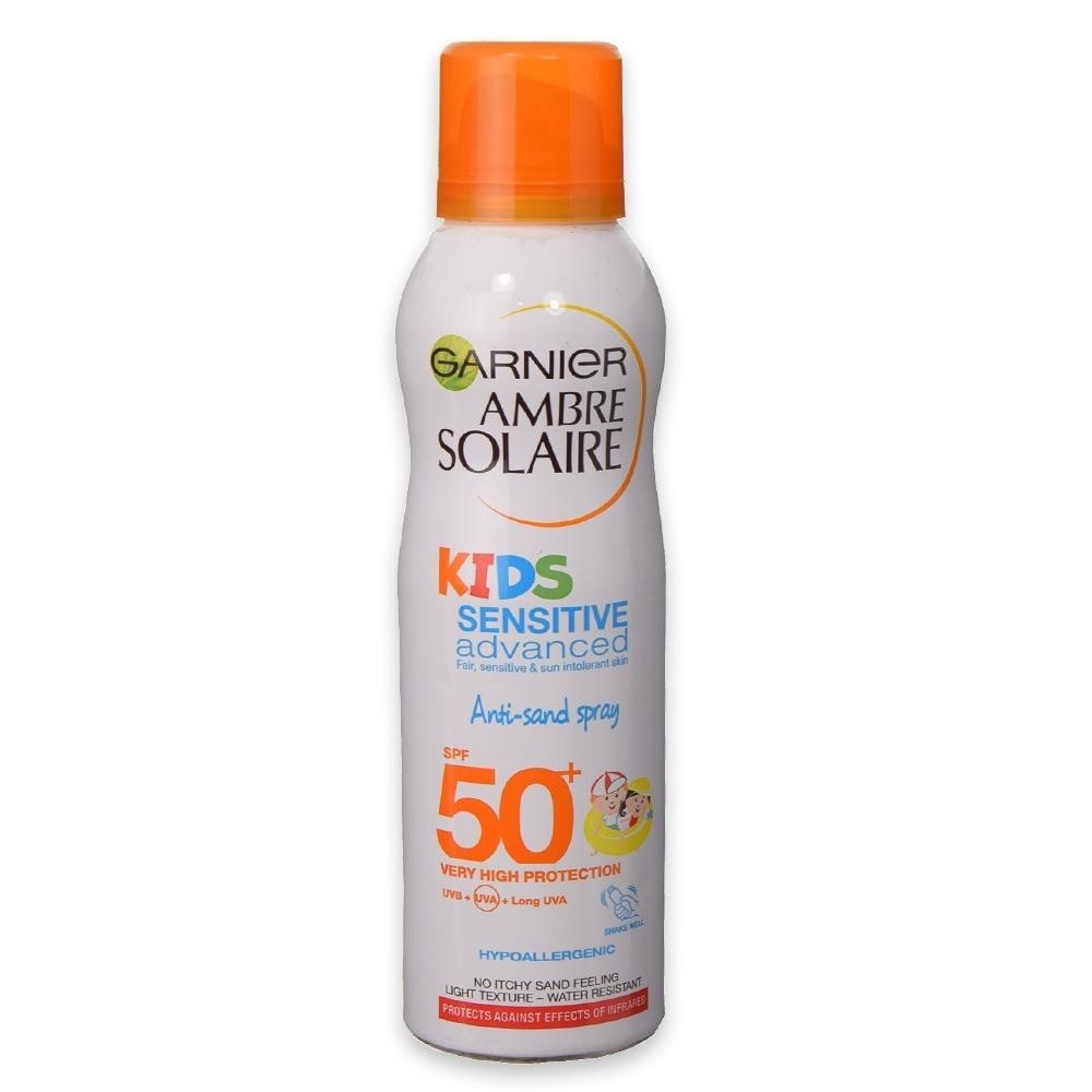 Garnier Ambre Solaire Kids Sensitive Anti-Sand Sun Cream Spray SPF 50+ 200ml
