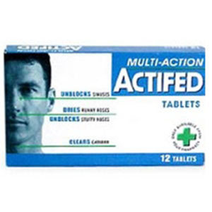 Actifed Multi Action 12 Tablets
