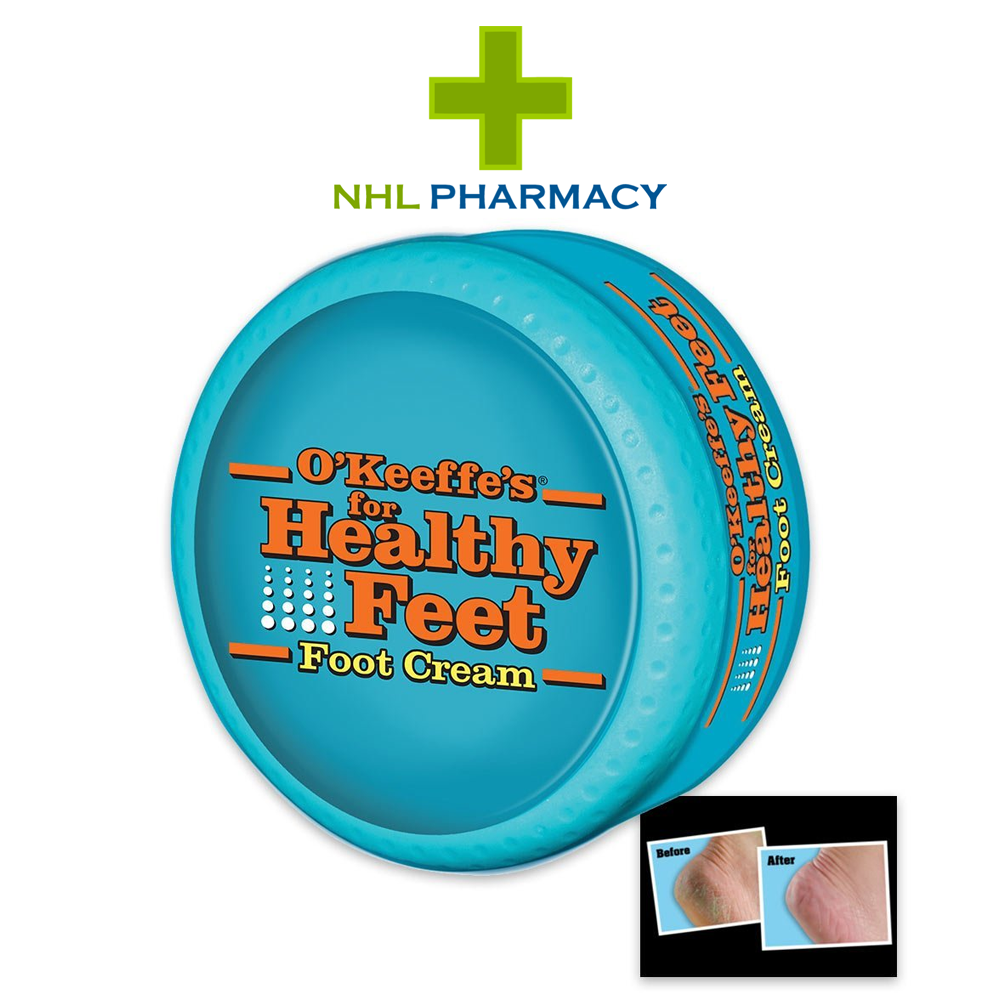 O'Keeffe's Healthy Feet Foot Cream for Cracked/Split Skin, Non-Greasy