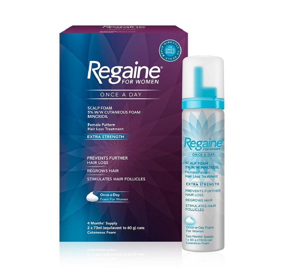 Regaine For Women Once A Day Foam Extra Strength 2x73ML (4 Months Supply)