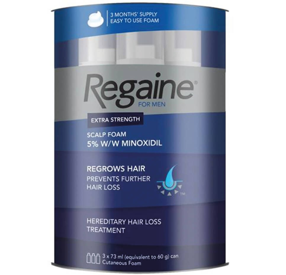 Regaine Foam For Men EXTRA STRENGTH 73ml Triple Pack
