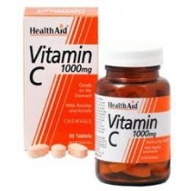 Healthaid Vitamin C Supplements Vit C Chewable Tablets 1000mg – 30 Pack