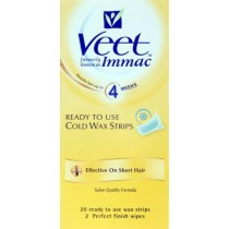 Veet Cold Wax Leg Strips For Short Hair