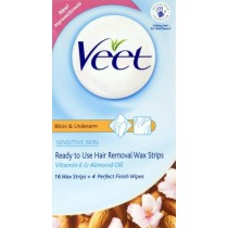 Veet Ready-to-Use Wax Strips For Underarm & Bikini