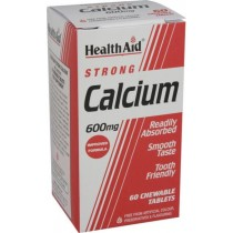 Healthaid Mineral Supplements Calcium Chewable Tablets 600mg – 60 Pack