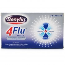 Benylin 4 Flu Tablets 24 Tablets
