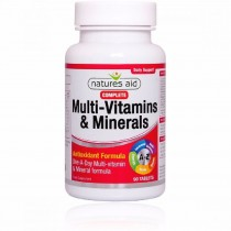 Natures Aid Multivitamins & Minerals 90 Tablets