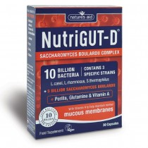 Natures Aid NutriGUT-D (10 Billion Bacteria) 30 Capsules