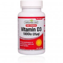Natures Aid Vitamin D3 1000iu 90 Tablets