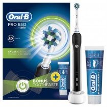 Oral B Pro 650 Electric Toothbrush + Pro-Ex Toothpaste 75ml (black)