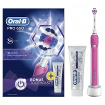 Oral B Pro 650 Electric Toothbrush + Pro-Ex Toothpaste 75ml (pink)