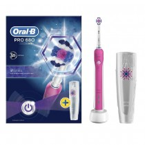 Oral B Pro 680 3D White Pink Electric Toothbrush