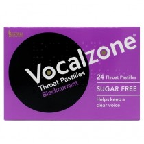 Vocalzone Throat Pastilles Sugar Free (Blackcurrant Flavour)