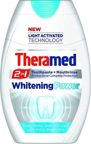 Triple Pack of Theramed Theramed 2in1 Toothpaste & Whitening Power 75ml