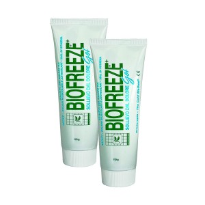 Bio freeze Pain Relieving Gel with Ilex - 118ml / 4oz Tube - 2 Tube Pack