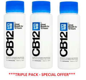 CB12 Mint-Menthol Mouthwash 250ml TRIPLE PACK