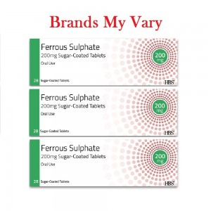 Ferrous Sulphate 200mg 28 Iron Tablets - Triple Pack (Suitable for Vegetarians)