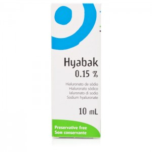 Hyabak 0.15% Solution Eye and Contact Moisturising Lubrication
