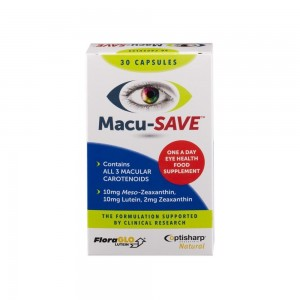 MacuSave - Supplement Eye 30 Capsules (short dated exp 08-18)