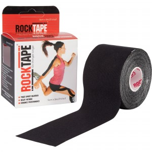 RockTape Kinesiology Tape -  5cm Wide - 5m roll - Black