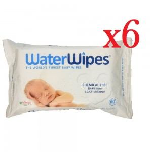 Pack of 6 WaterWipes Baby Wipes Sensitive Skin 360 Wipes